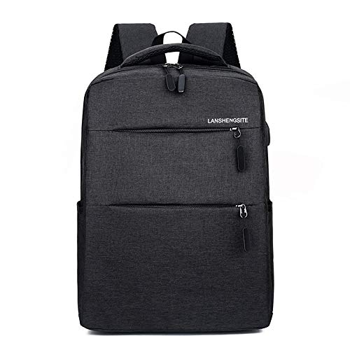 HOSD Business USB Backpack Simple Casual Large Capacity Travel Backpack Computer Backpack