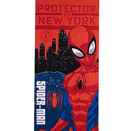 MARVEL Toalla de baño de microfibra con diseño de Spiderman de secado rápido, ultra suave, tamaño grande, color rojo