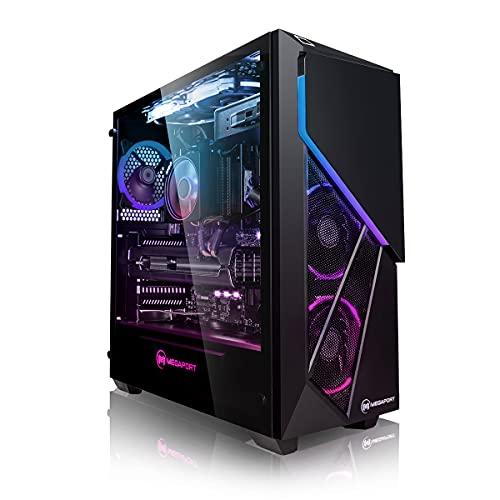 Megaport Gaming PC Intel Core i7 10700F 8X 2.90-4.80GHz • Nvidia GeForce RTX 3070 8GB • 500GB M.2 SSD • 16GB DDR4 3200 • 2TB HDD • Windows 10 • WLAN Gamer pc Computer Gaming Computer