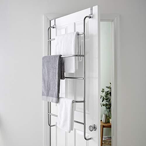 Direct Online Houseware - Stendibiancheria a 5 ripiani per porta e porta asciugamani, organizer per il bagno