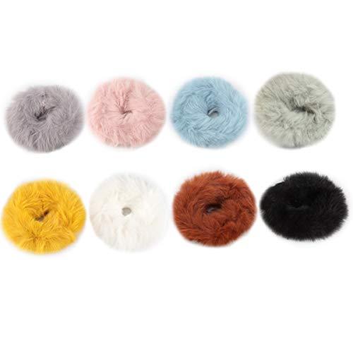 Lurrose 8pcs pelo scrunchie portátil invierno mujer accesorio para el cabello coleta titular pulsera regalo para navidad