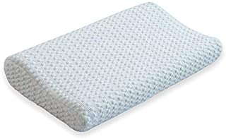 Silqui Small Neck Memory Foam Contour Pillow (Size 15.75 x 9.25 x 2.75), Thin Low Profile, Helps Facilitate Proper Alignment for Zen Relaxation, Uses: Neck, Back, Lumbar, Travel, Children, Toddlers