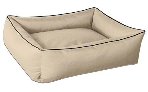 BedDog® Hundebett MAX, großes Hundekörbchen aus Cordura, waschbares Hundebett mit Rand, Hundesofa Vier-eckig, für drinnen, draußen, XXL, NAMIB-Sand, beige