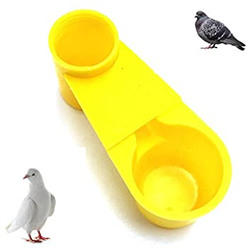 Lucky Farm 10 Pcs Soda Pop Bouteille d'eau Oiseau Buveur Coupe Printemps Quail Colombe Poulet Pigeon Abreuvoir (Jaune)