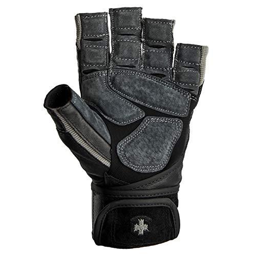 Harbinger BioForm Wristwrap Weightlifting Glove with Heat-Activated Cushioned Palm (Pair), Medium