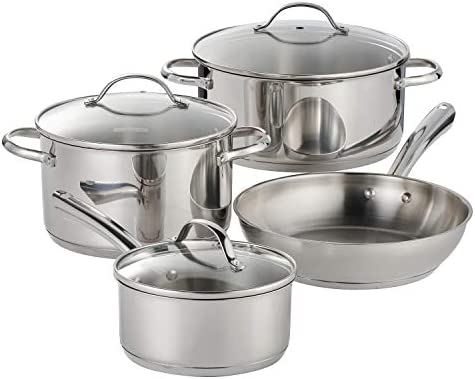 Tramontina 7 Pc Stainless Steel Cookware Set product image