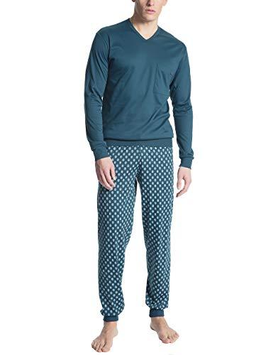 CALIDA Herren Relax Streamline 1 Zweiteiliger Schlafanzug, Blau (Blue Wing Teal 517),...