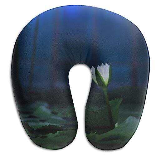 Almohada de Viaje Cojín Espuma viscoelástica Soporte para el Cuello Azul Nocturno Fresco Cómodo para avión Coche Vuelo a casa Fácil de Llevar En Forma de U