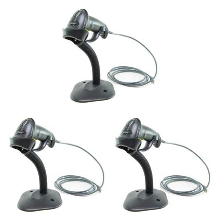(Formerly Motorola Symbol) LS2208 Digital Handheld Barcode Scanner with Stand and USB Cable - 3 Pack