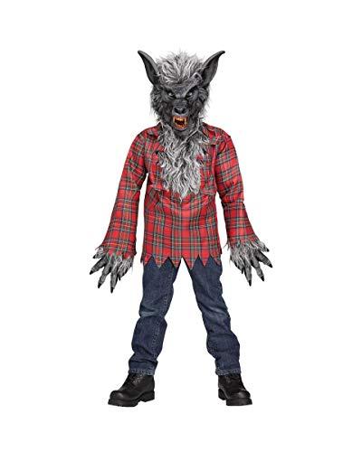 Disfraz De Hombre Lobo Gris para Niño M