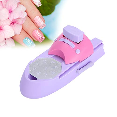 Nail Art Printer, Nail Art Stamping Professional Nail Art DIY Pattern Portable Printing Machine Stamper Nail Printer Manicure Tools Nail Colors Stamper Machine Set With 6 Pattern Palettes