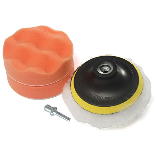 Staright 5 Piezas de Gran diámetro 4 Pulgadas Disco de Esponja Muebles de automóvil Pulido Traje de Encerado