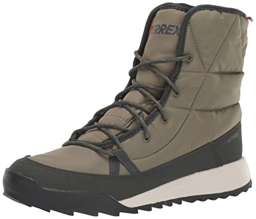 adidas outdoor Women's Terrex Choleah Padded CP Snow Boot, RAW Khaki/Legend Earth/SEMI Coral, 11 M US