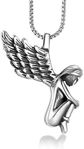 NC110 Ángel pequeño Collar Fresco Personalidad ángel caído Colgante Moda Biblia Collar YUAHJIGE