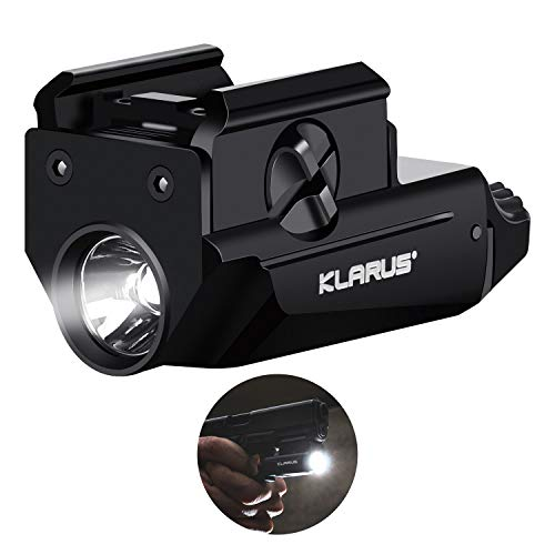 SKL Weapon Light 600 Lumens GL1 Gun Light, Pistol Light with Adjustable Rail USB Rechargeable, Press Switch Waterproof for Glock, Picatinny Rail