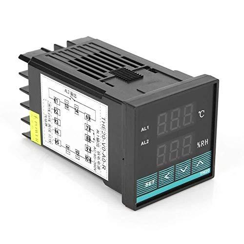GNLIAN HUAHUA Cicly Timer Relay Termostato Digital Controlador de Humedad, -19,9 ℃ ~ 80,0 ℃ Humedad Controller 0,0~99,9% RH Temperatura con relé de Salida de Pantalla Digital Tablero Industrial