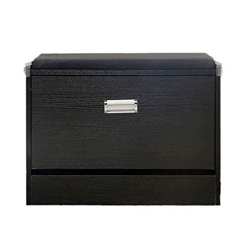 qazxsw Banco de Almacenamiento de Zapatos con cajón abatible Pasillo Estante de Almacenamiento Estante de Zapatos Gabinete de Madera Banco de Zapatos Organizador de Almacenamiento de