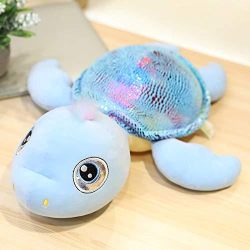 Juguete de peluche de tortuga de ojos grandes, concha de tortuga brillante de peluche, juguetes de animales marinos de peluche, juguetes de muñecas suaves para niños, almohada para dormir de 30 cm