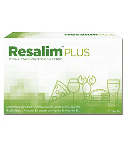 Resalim Plus 10 Cápsulas - Suplemento Natural   Anti-Resaca y Digestiones Pesadas...