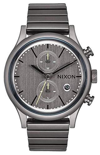 Nixon Herren Chronograph Quarz Uhr mit Edelstahl Armband A1162-632-00