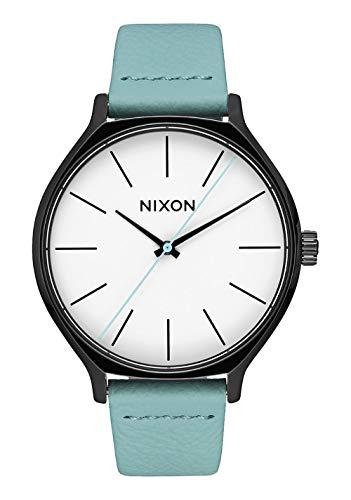 Nixon Reloj Analógico para Mujer de Cuarzo con Correa en Cuero A1250-3317-00