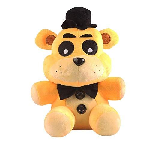 Hot!! 18cm Five Nights at Freddy's FNAF Golden Freddy Foxy Bonnie Chica Fazbear Stuffed Plush Toys for Kids Baby Gift Golden Freddy