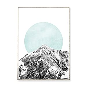 DIN A3 Kunstdruck Poster PEAK -ungerahmt- Berg, Gebirge, geometrisch, Kreis, abstrakt, skandinavisch, nordisch