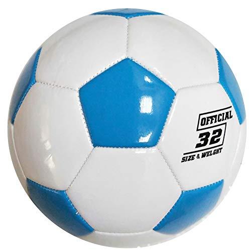 Klassische Fußball Kind Fußball Outdoor Sport Nähmaschine Fußball PU Ball 2-14 Jahre Kleinkind und Kinder Outdoor Sport Fußball Größe 3 4 5,Blue,Size-3