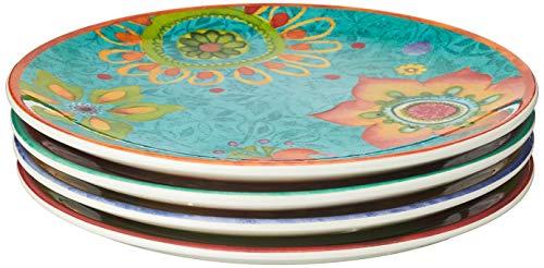 Certified International Tunisian Sunset Salad/Dessert Plates (Set of 4), 8.75', Multicolor