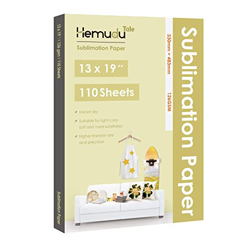 Hemudu Tale Sublimation Paper 110 Sheets 13x19 inch for Heat Transfer DIY Gift Compatible with Any Inkjet Printer with Sublimation Ink