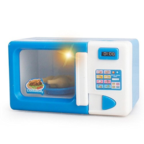 Efaster Simulation Meal Kitchen Appliances Category Toys Pretend Play Game for Kids (Microwave oven)