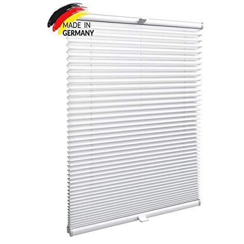 Gardinen21 Konfigurieren Sie Ihr eigenes Plissee mit Bohren in verschiedenen Farben | Maßgefertigt für Türen & Fenster |Sonnenschutz und Blickdichte Rollos