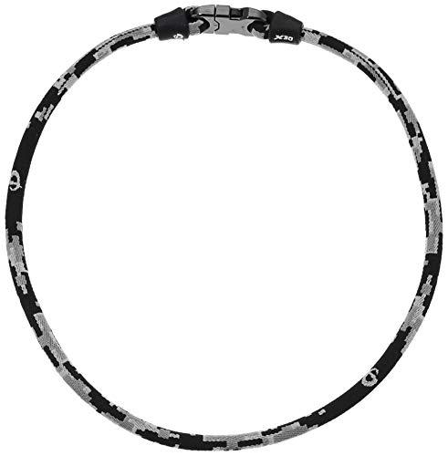 Phiten Digital Camo Titanium Necklace, Night, 18-Inch
