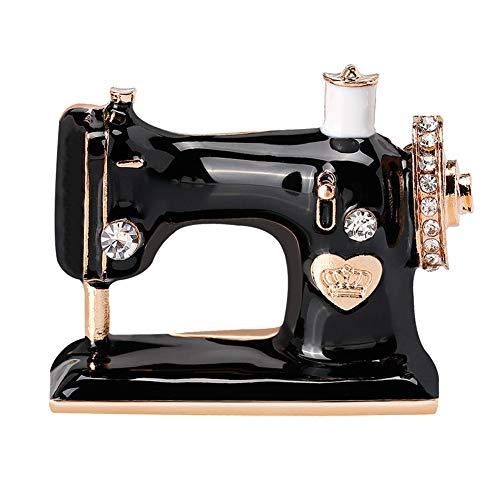 KeKeandYaoYao - Broche de aleación de diamante para ropa, accesorios de ropa, exquisito broche para máquina de coser