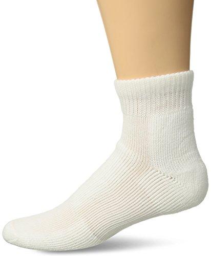 Thorlos Men's WMX Walking Thick Padded Ankle Sock, White, Medium
