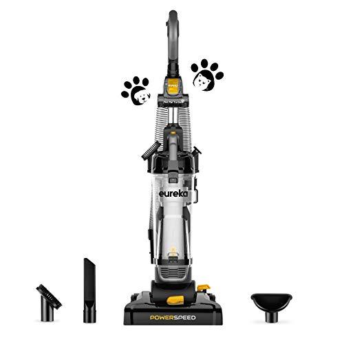 Eureka PowerSpeed Lightweight Powerful Upright Vacuum Cleaner, NEU181, Black/Yellow (Renewed)