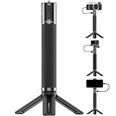 ULANZI BG-3 Battery Handle Grip 10000mAh Power Bank Portable Charger Tripod Monopod for DLSR Action Camera Smartphone Vlogging Time-Lapse Shooting Live Streaming Filmmaking from ULANZI