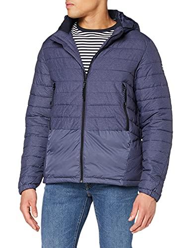 Scotch & Soda Herren Short Quilted with Detachable Hood Jacke, Blau (Denim Blue Melange 0788), X-Large