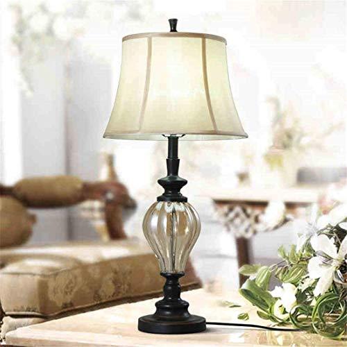 DEJ Amerikaanse eenvoudige creatieve E27 wit licht transparante lamp oogbescherming leren, werkgeschenken salon studie slaapbank bedlampje 355 * 680mm
