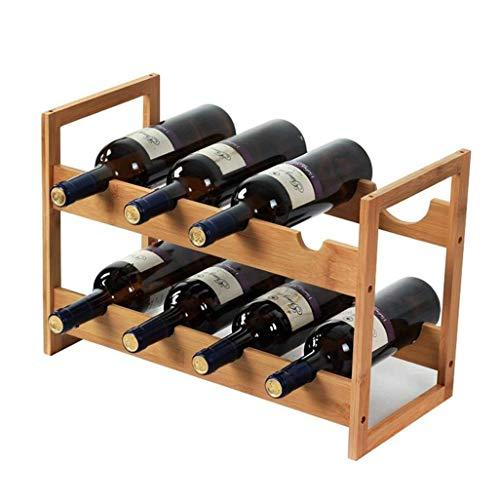 Porte-Bouteilles Porte-Bouteilles de vin, Porte-Bouteille de vin for Un Bar de Cuisine ou de la Famille (47x22x32cm)