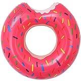 LEZED Flotador Inflable Donuts para Piscina Anillo de Natación Donut Salvavidas de Natación de Donut Verano El Mejor Aire Libre de la Playa Hinchables Juguete para Adultos y Niños (Rosa)