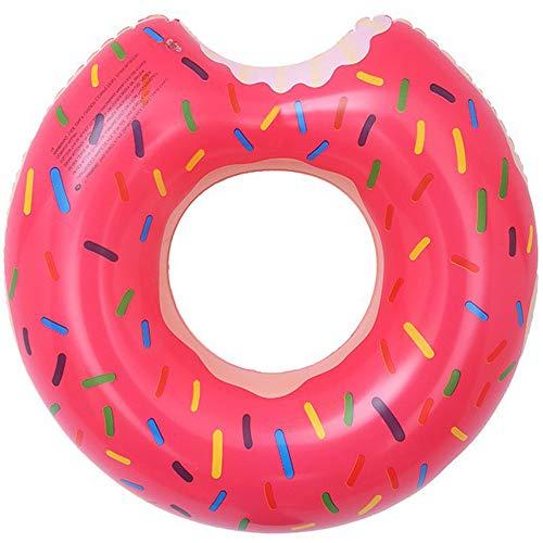 LEZED Aufblasbar Schwimmring Donut Schwimmreifen Luftmatratze Erwachsene Donut Schwimmring Aufblasbarer Schwimmring Luftmatratzen Pool Sommer Party Lounger Luftmatratze Reifen Donut (Pink)