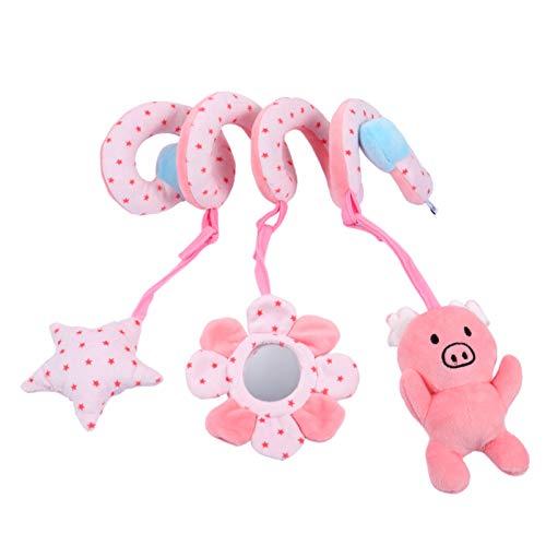 TOYANDONA Cuna de Bebé Cochecito Juguetes Colgantes Cerdo Animal Cochecito Asiento de Coche Juguete Sonajeros Colgantes para Niños Recién Nacidos Rosa