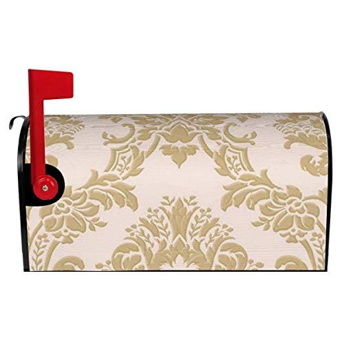 Briefkastenabdeckungen, klassische Seidendamast-Optik, Pinkgold, magnetische Briefkastenumhüllung, Briefkastenabdeckung für Garten, Hof, Dekoration, Standardgröße 52,8 cm (L) x 45,7 cm (B)