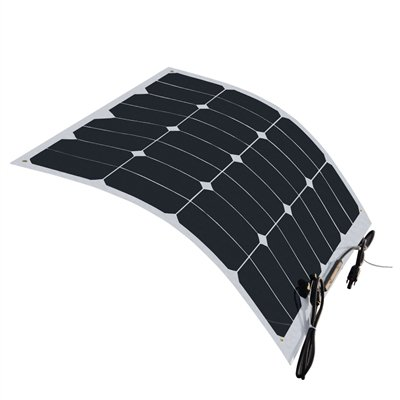 HQ 50 Watt 12 Volt Monocrystalline Semi Flexible Lightweight Solar Panel …