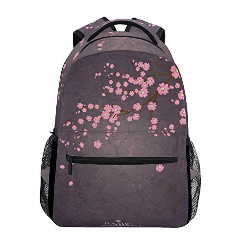 poiuytrew Eiffel Tower Cherry Blossom Backpack Students Shoulder Bags Travel Bag College School Backpacks
