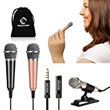 [2PCS] Mini Karaoke Microphone, Wootrip Mini Voice Recording Microphone Portable Karaoke Mic for Singing, Recording, Voice Recording