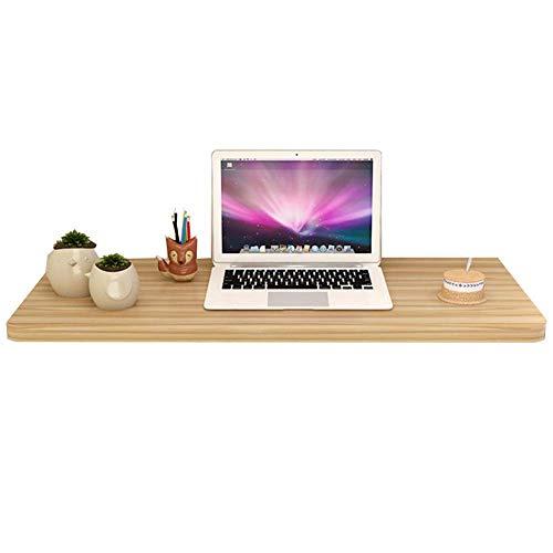 Hangkast, opbergtafel, bureau, laptopstandaard, bureau, woonkamerrek, eettafel, houten plaat, meerkleurig en in meerdere maten esdoorn wit 50 x 30 cm 80 x 40 cm, licht Walnut