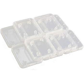 SODIAL 10PCS Transparente Estandar SD SDHC Sostenedor caja de tarjeta de memoria Caja de almacenamiento: Amazon.es: Electrónica
