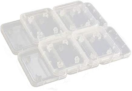 GOOTRADES Transparent Standard SD SDHC Memory Card Case Holder Box Storage Boxes (pack of 10)